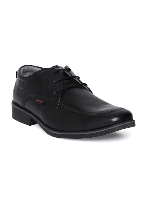 Red Chief Men Black Genuine Leather Derbys