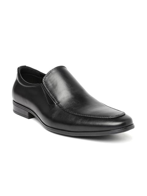 Tresmode Men Black Semiformal Slip-Ons