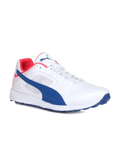 Puma Men White Cricket Shoes