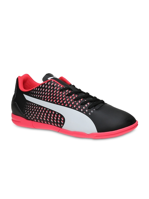Puma Men Black & Pink Adreno III IT Football Shoes