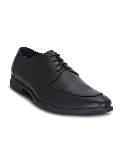 Get Glamr Men Black Derby Shoes