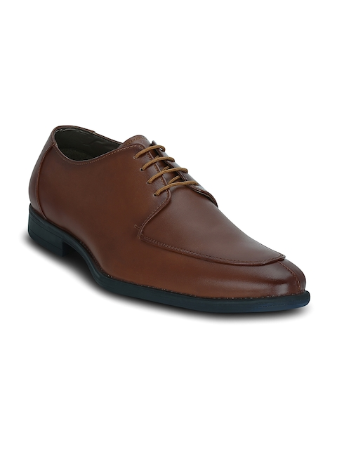 Get Glamr Men Brown Derby Shoes