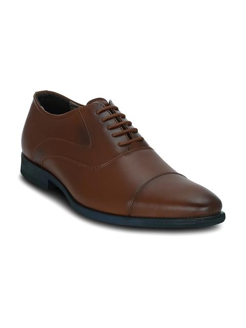 Get Glamr Men Brown Oxford Shoes