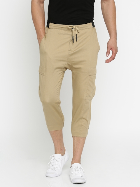 HRX by Hrithik Roshan Men Khaki Cargo Shorts