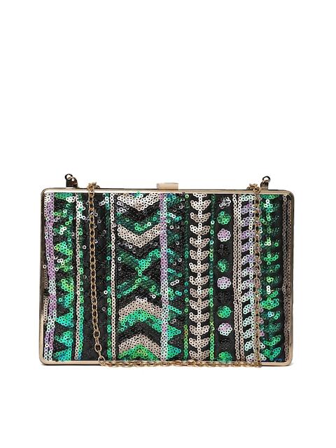 ToniQ Multicoloured Sequinned Box Clutch with Chain Strap