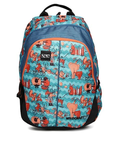 Wildcraft Unisex Blue & Black Zoo 4 Printed Backpack