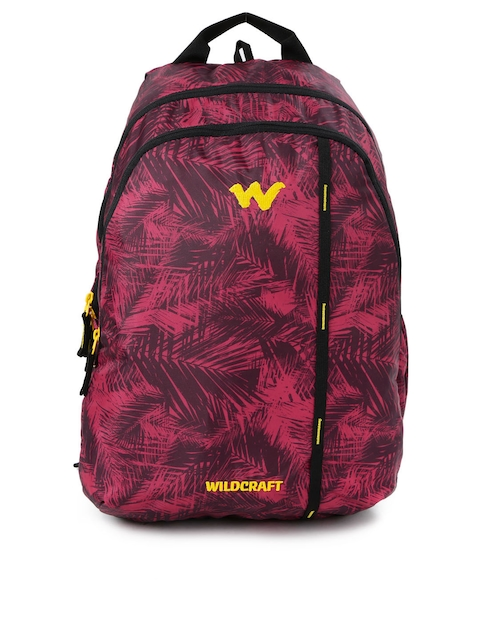Wildcraft Unisex Red Printed WC 1 Foliage 1 Backpack