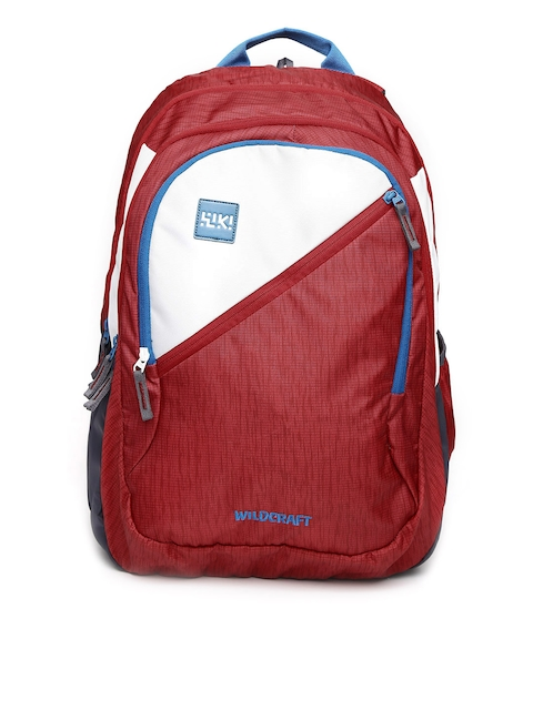 Wildcraft Unisex Red & White Wiki 7 Hue 7 Colourblocked Backpack