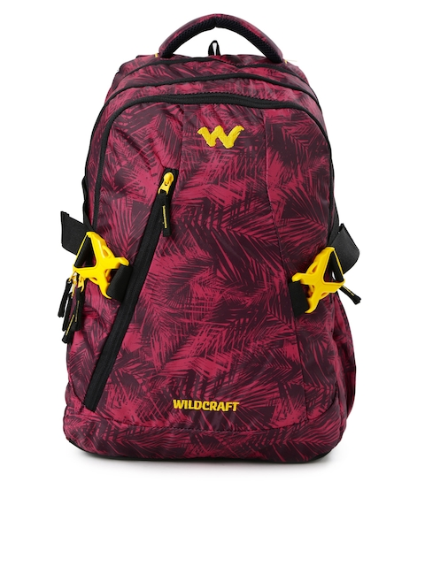 Wildcraft Unisex Red Printed WC 8 Foliage 5 Laptop Backpack