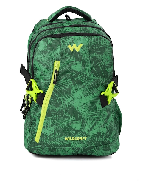 Wildcraft Unisex Green Printed WC 8 Foliage 5 Laptop Backpack