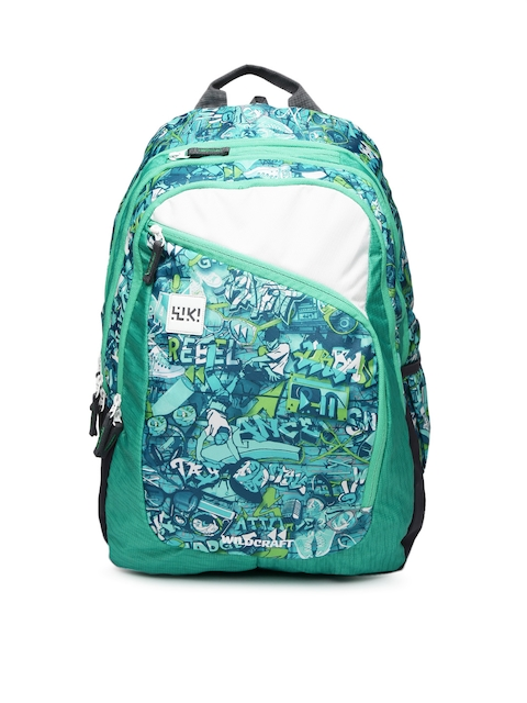 Wildcraft Unisex Blue Wiki 8 Punk 6 Printed Backpack