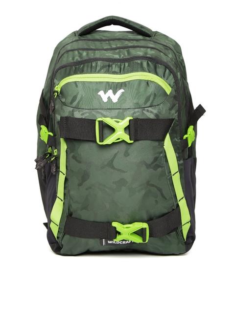 Wildcraft Unisex Green Zephyr Camouflage Print Laptop Backpack