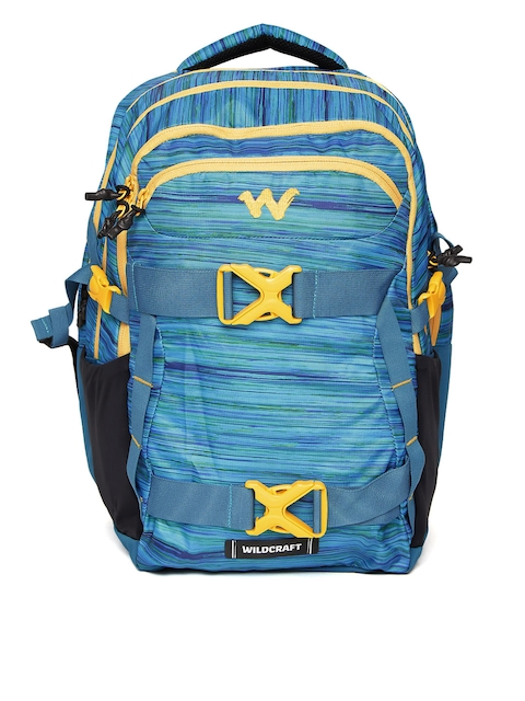Wildcraft Unisex Blue Zephyr Vistas Patterned Laptop Backpack ab4eca4271b9d