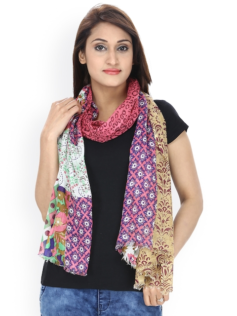 Anekaant Multicoloured Floral Print Stole