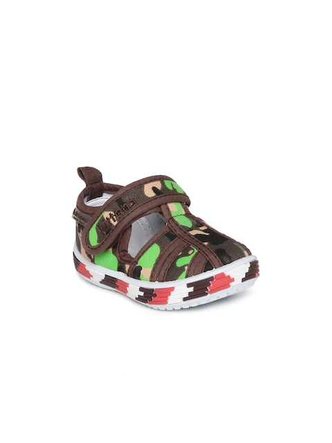 Kittens Boys Brown & Green Camouflage Print Sandals