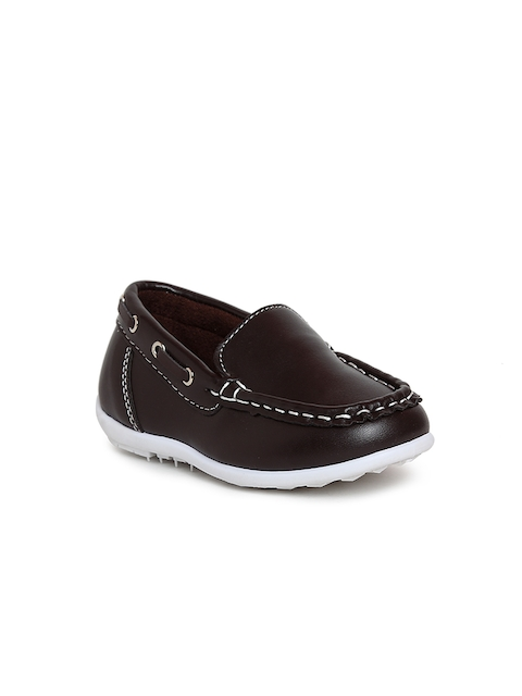 Kittens Boys Brown Solid Loafers