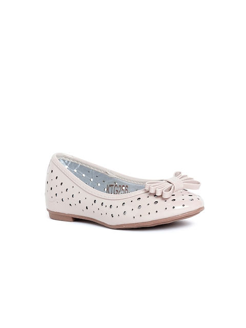 Kittens Girls Beige Cut-Out Ballerinas