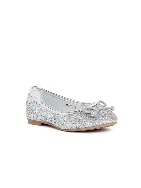 Kittens Girls Silver-Toned Shimmer Ballerinas