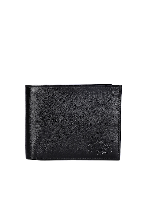Harp Men Black Leather Wallet