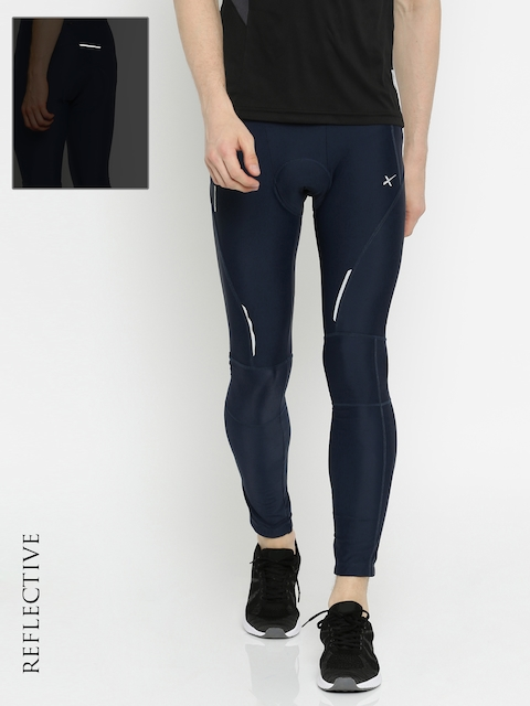 HRX by Hrithik Roshan Men Navy RAPID-DRY Active Cycling Pants