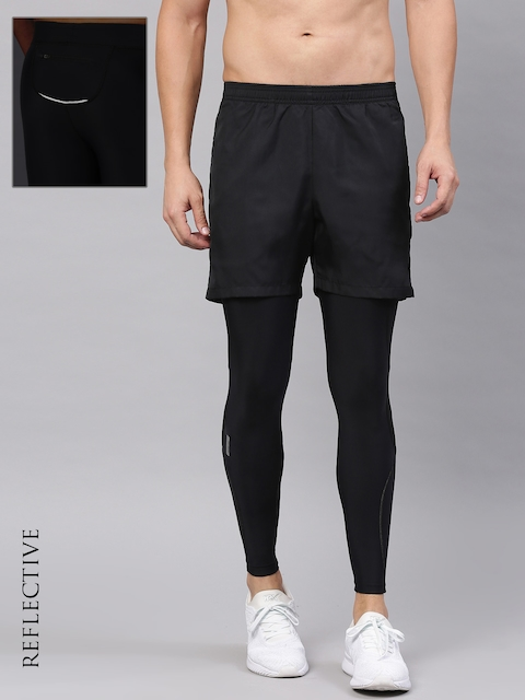 HRX Active by Hrithik Roshan Black Compression Tights
