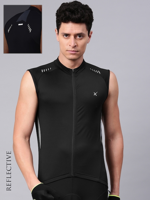 HRX by Hrithik Roshan Men Black Solid Cycling Jacket