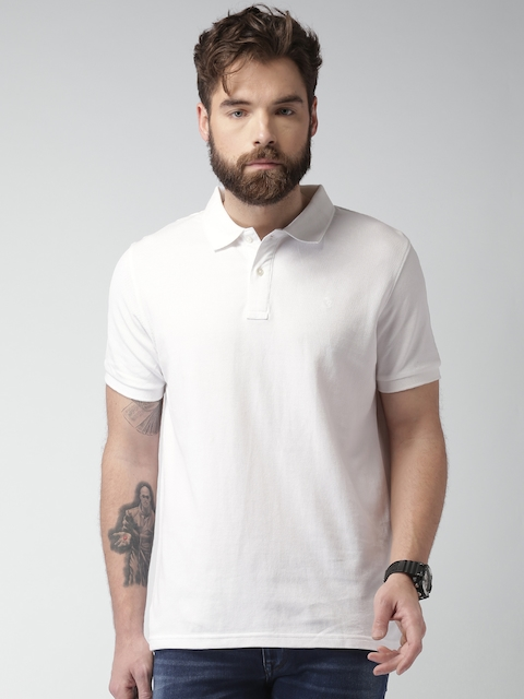 Celio Men White Solid Regular Fit Polo T-shirt  available at myntra for Rs.599