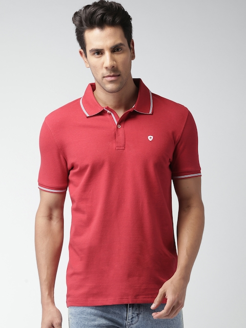 Celio Men Red Polo T-shirt  available at myntra for Rs.649