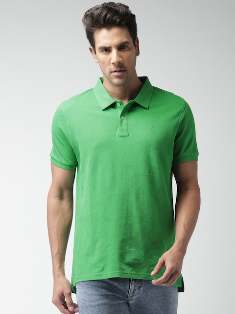 Celio Men Green Polo T-Shirt  available at myntra for Rs.699