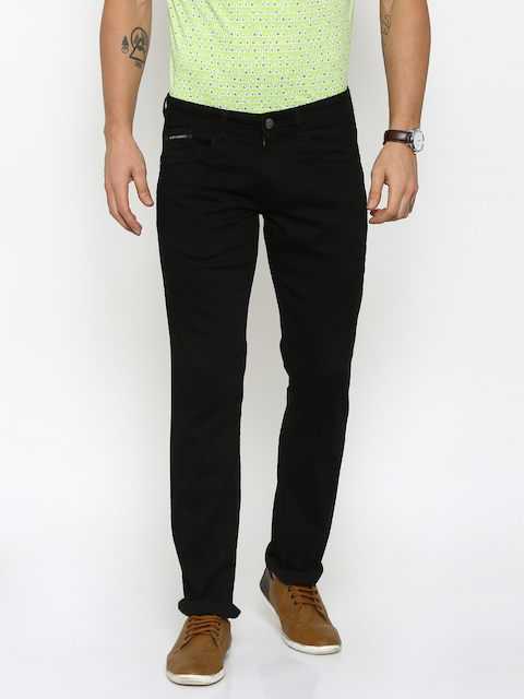 Park Avenue Men Black Tapered Fit Mid-Rise Clean Look Jeans