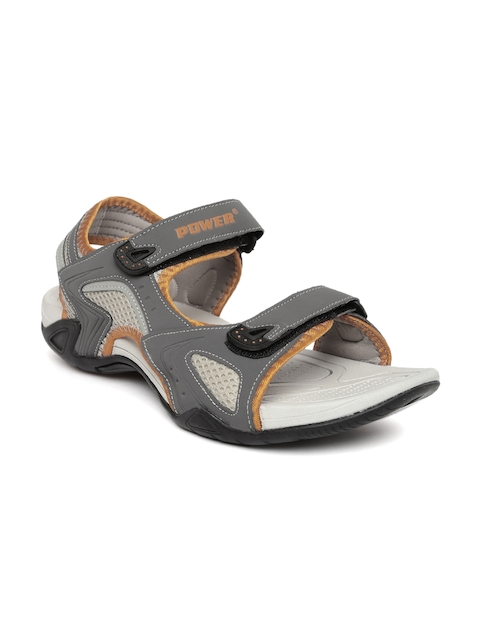 Power Men Grey Ian Sports Sandals  available at myntra for Rs.599