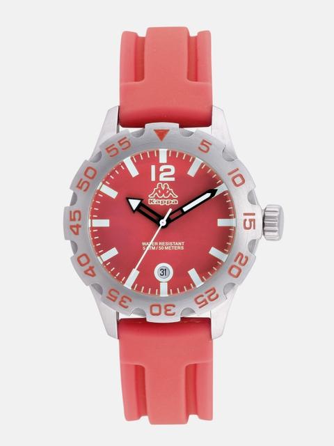 Kappa Women Red Dial Watch KP-1401L-E