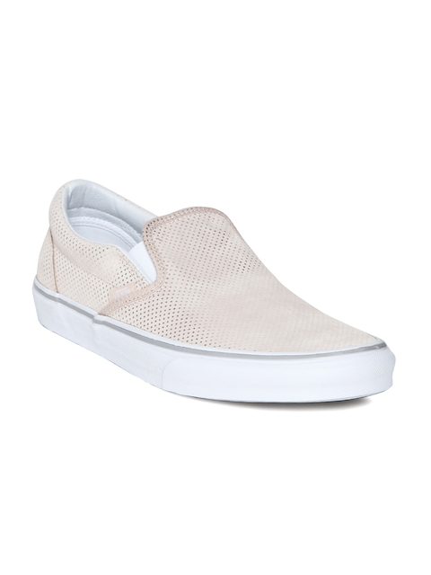 Vans Unisex Peach-Coloured Printed CLASSIC SLIP-ON Sneakers  available at myntra for Rs.1999
