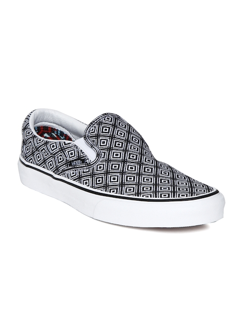 Vans Unisex Black Printed CLASSIC SLIP-ON Sneakers  available at myntra for Rs.1599