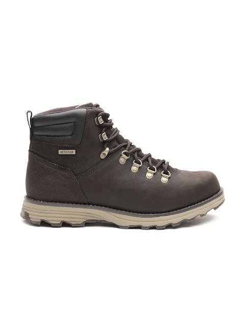 CAT Men Coffee Brown Mid-Top Flat Boots