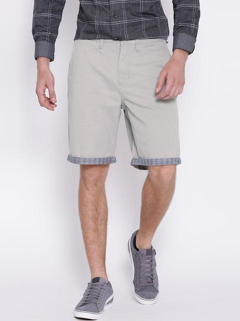 Vans Men Grey Solid Chino Shorts