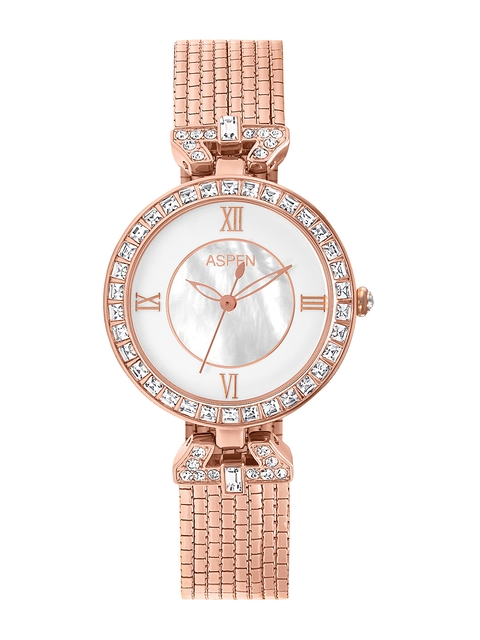 ASPEN Women White Dial Watch AP1840A