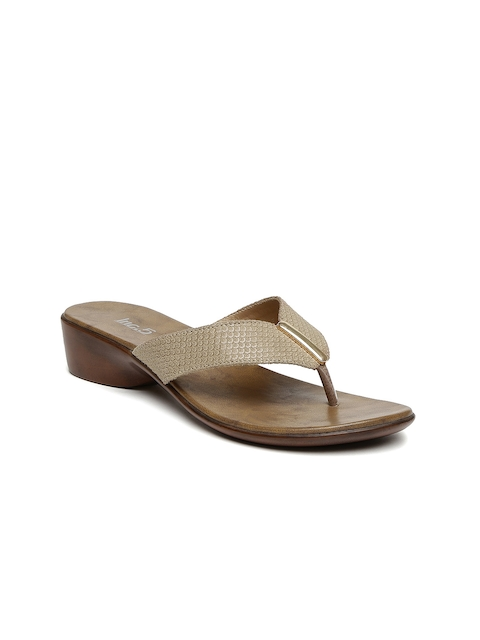 Inc 5 Women Brown Self-Design Sandals