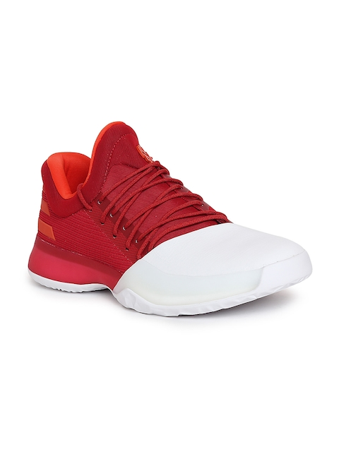 Adidas Men Red Harden Vol.1 Basketball Shoes