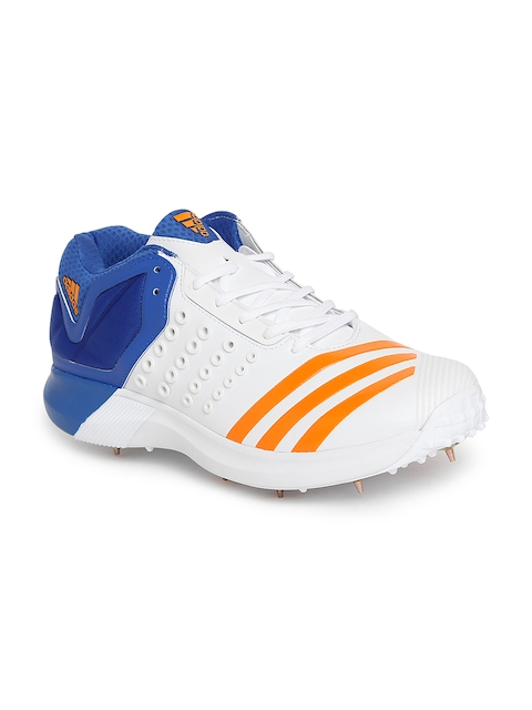 Adidas Men White Adipower Vector Mid Cricket Shoes