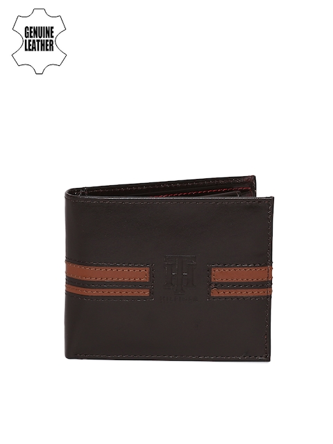Tommy Hilfiger Men Brown Genuine Leather Wallet