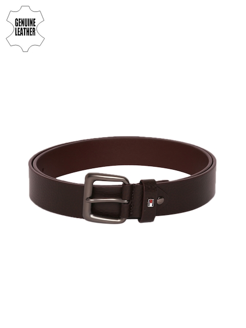 Tommy Hilfiger Men Coffee Brown Genuine Leather Belt