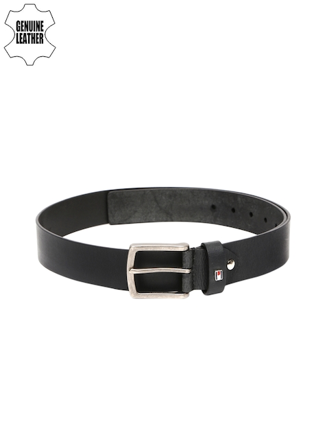 Tommy Hilfiger Men Black Genuine Leather Belt