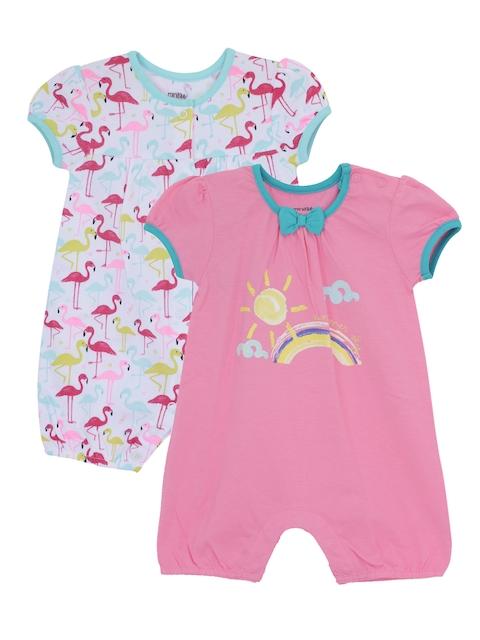 FS Mini Klub Infant Girls Pack of 2 Printed Rompers