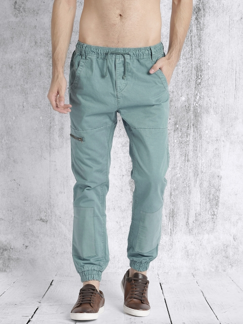 Roadster Men Blue Regular Fit Solid Joggers