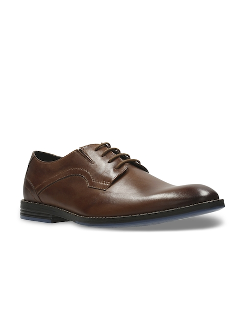 Clarks Men Brown Leather Derbys
