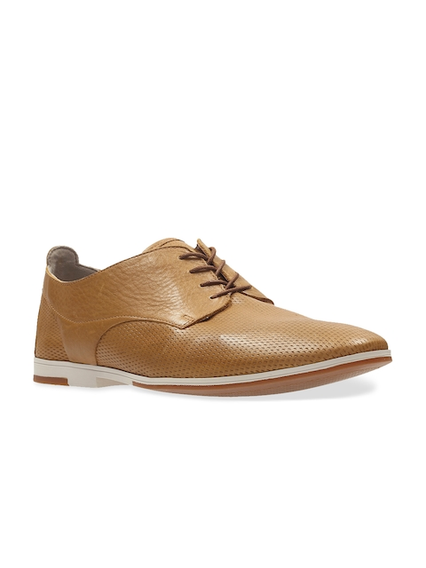 Clarks Men Tan Brown Leather Formal Shoes