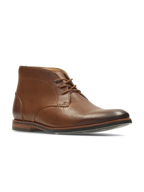 Clarks Men Tan Brown Leather Semiformal Shoes