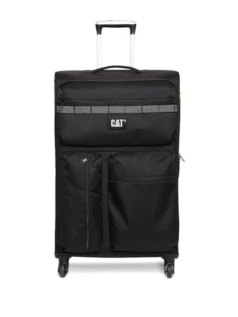 CAT Unisex Black Cube Combat Medium Trolley Bag