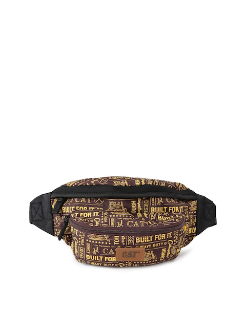 CAT Men Brown Printed Waist Pouch